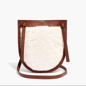 Madewell Knot Crossbody Bag in Shearling